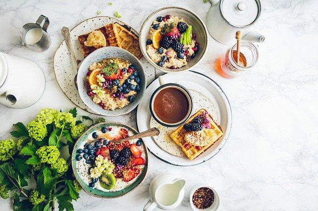 snídaně se zdravými potravinami